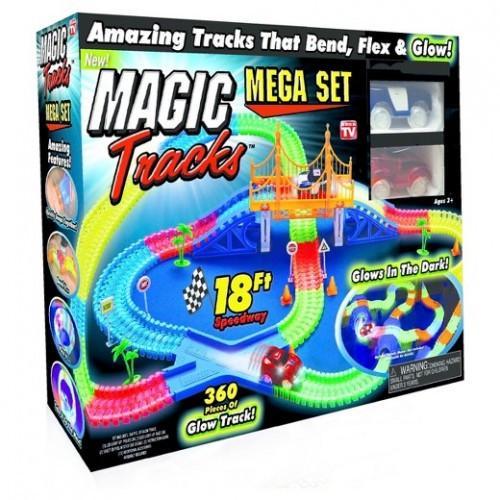 Гоночный трек конструктор Magic Tracks большой 360 деталей