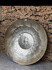 Тарілка декор настінна металева золота XXL, фото 2