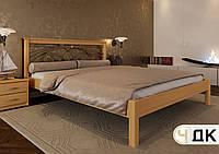 Кровать Модерн ковка 180*190, Ольха, Золото