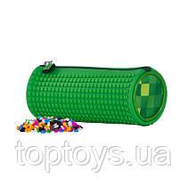Творчий пенал Pixie Crew закруглений зелений в клітинку (PXA-06-D07)