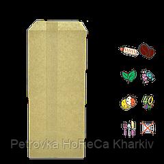 Бумажный пакет без ручек крафтовый 170х70мм (ВхШ) 40г/м² 100шт (1366)