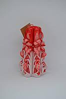 Новогодняя резная свеча handmade