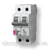 Автоматический выключатель ETIMAT 6 2p D 10A (6kA), ETI, 2163514