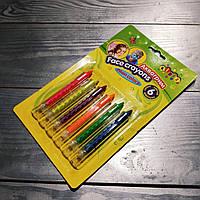 Краски для грима 6 цветов,неоновые,выдвижной карандаш,№7765,аквагрим,набор для творчества, фото 1