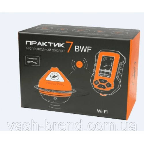 Эхолот ПРАКТИК 7 BWF Универсал (Wi-Fi) Маяк+Блок+Проводной датчик  для зимней рыбалки