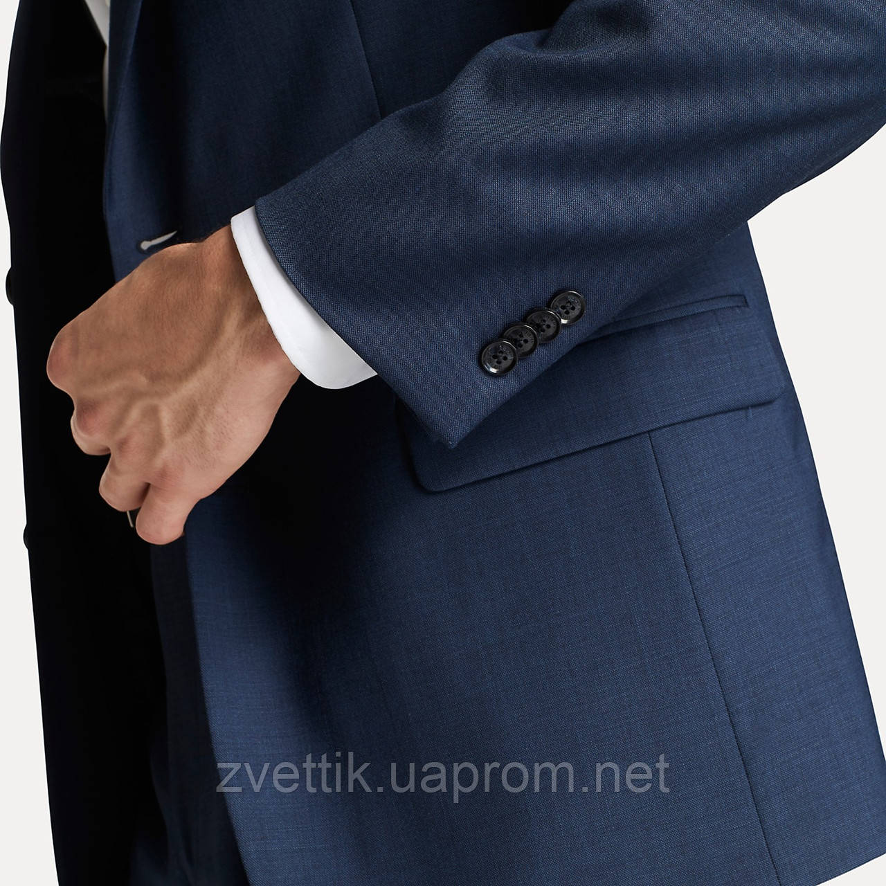 Шикарный классический синий мужской костюм натуральная шерсть Tommy Hilfiger Оригинал (Размер 46)