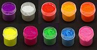 Набор Флуоресцентные пигменты 10 мл.10 штук  для геля ,акрила, лака, дизайнов светятся в ультрафиолете