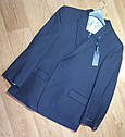 Шикарный классический синий мужской костюм натуральная шерсть Tommy Hilfiger Оригинал (Размер 46), фото 2