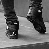 """Зимние кроссовки на меху Nike Air Jordan 1 Retro """"Черные"""", фото 3"""