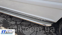 Fiat Scudo (07-16) боковые пороги подножки площадки на для Фиат Скудо Fiat Scudo (07-16) длин база d42х1,6мм