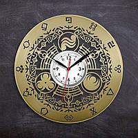 Зельда Видео игра Виниловые часы Часы для подростков Декор в детскую Часы в цвете золота 300 миллиметров