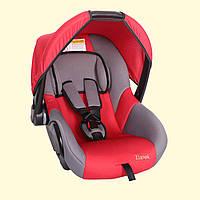 Детское переносное автокресло люлька ZLATEK Colibri красный до 1,5лет до 13 кг категория 0+
