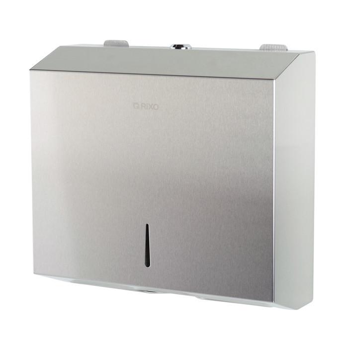 Диспенсер бумажных полотенец нержавеющая сталь Rixo Solido P132