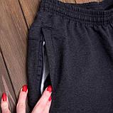 Чоловічі трикотажні шорти Reebok темно-сірого кольору, фото 5
