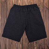 Чоловічі трикотажні шорти PUMA темно-сірого кольору, фото 4