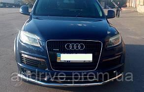 Защита переднего бампера (ус одинарный) Audi Q7 (2005->)