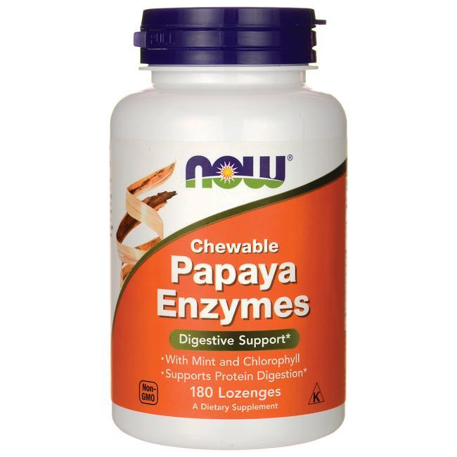 NOW Foods Papaya Enzyme 180 Chewable Tablets