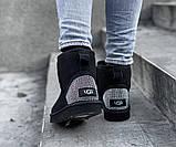 Угги женские UGG CLASSIC SHORT PA20 черные, фото 4