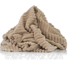 Ткань плюшевая Minky Stripes бежевый (шарпей)