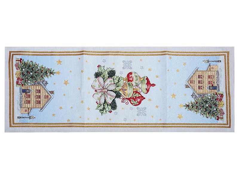 Раннер гобеленовый новогодний с люрексом 40х100 см, Lefard, 716-009