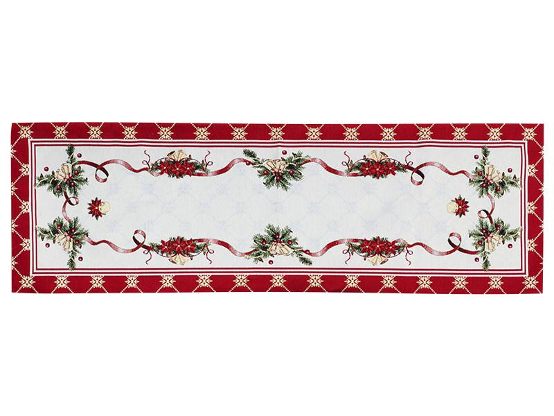 Раннер гобеленовый новогодний с люрексом 47х140 см, Lefard, 716-022