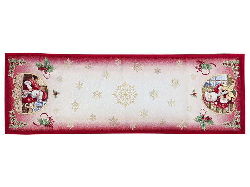 Раннер гобеленовый новогодний с люрексом 47х140 см, Lefard, 716-029