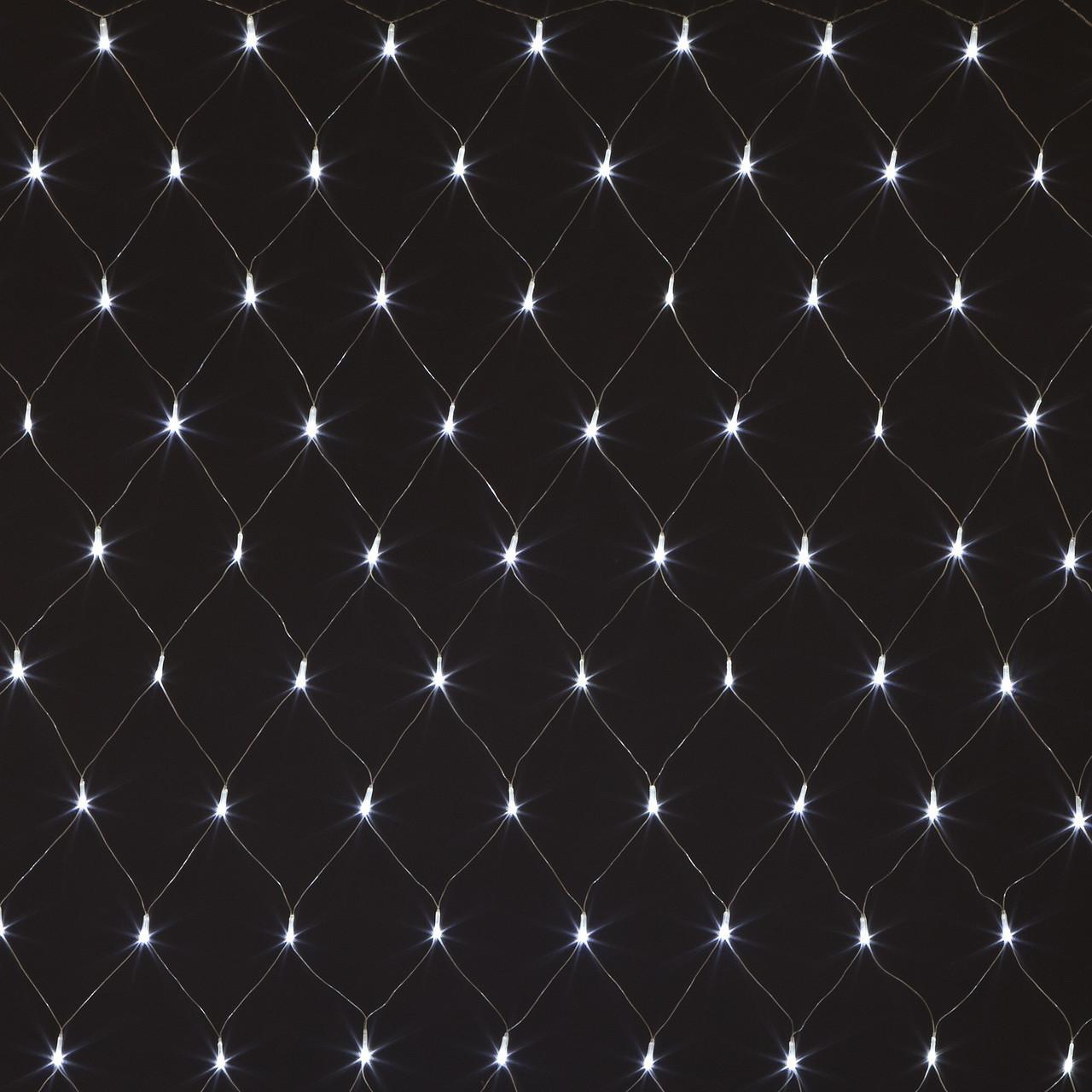 Гирлянда Сетка, 120 led, Белая, 1,5х1,2м.