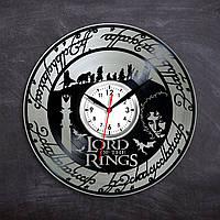 Lord of the Rings часы Хранители Кольца часы Часы с винила Властелин колец Братство кольца Часы в гостиную