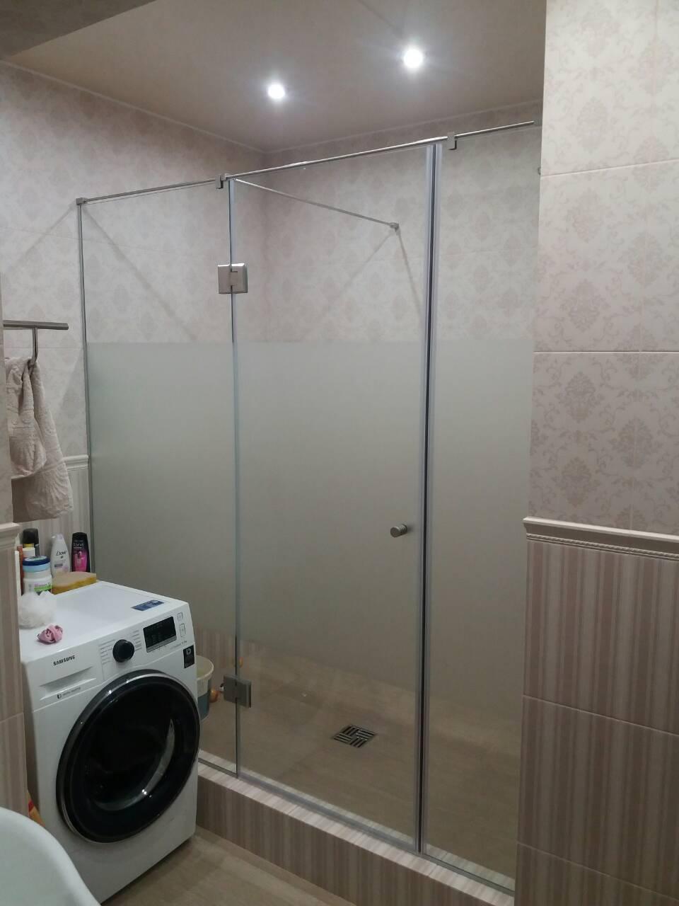 Стеклянные раздвижные двери в душ, раздвижные душевые двери и стенки для душевой, душові двері дверь в нишу