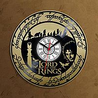 Властелин колец Виниловые часы Lord of the Rings часы Декор в холл Хранители Кольца часы Часы в гостиную 30 см