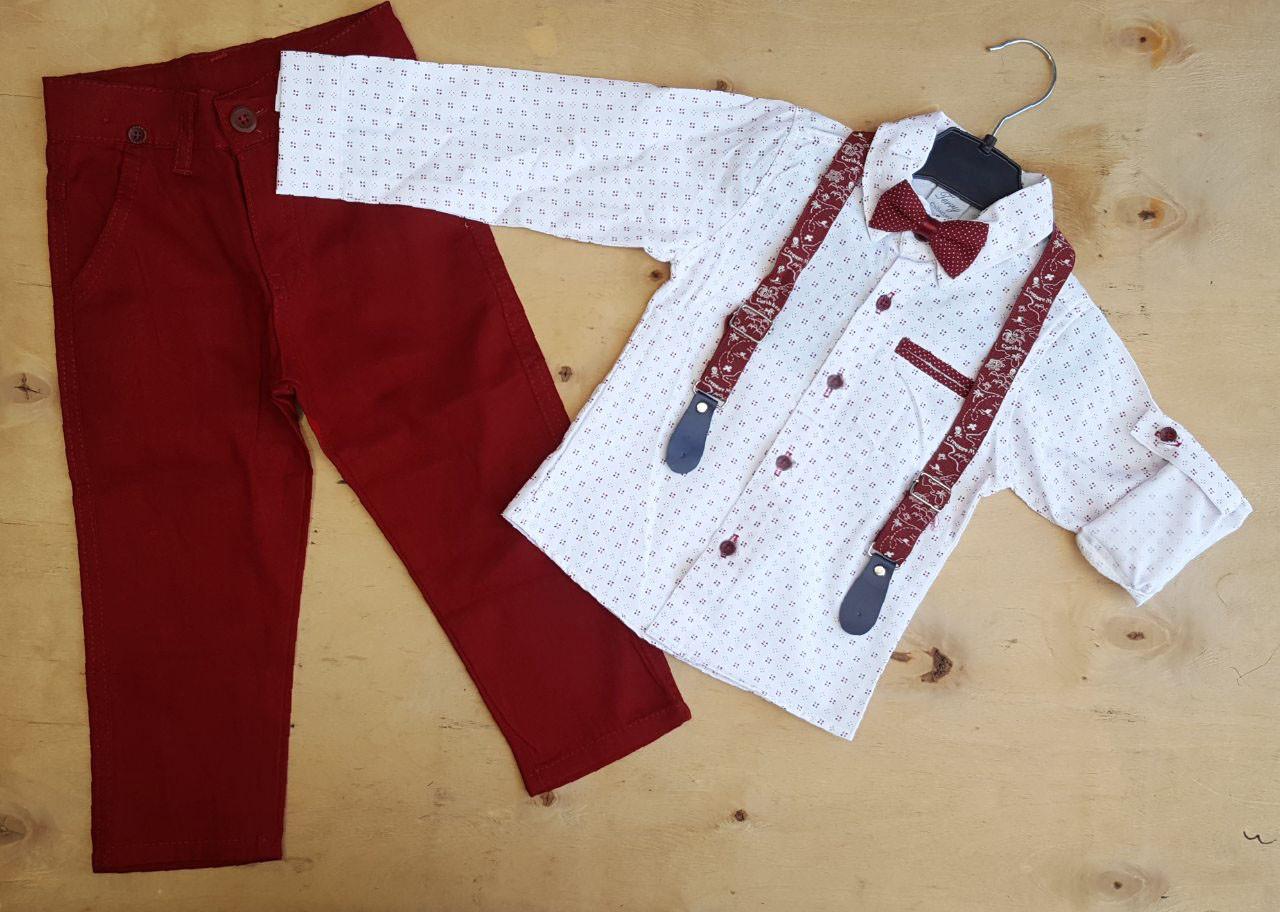 Нарядный костюм для мальчика с бабочкой и подтяжками Турция р. 6