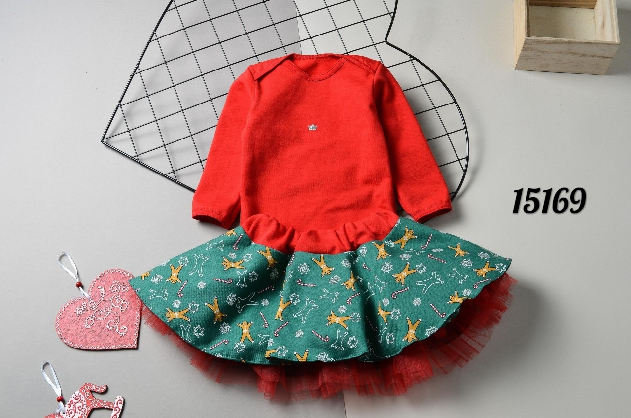 Новогодний костюм  с юбкой для девочки
