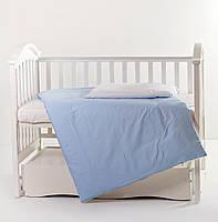 Сменная постель Twins Evolution 3 эл ЛІТО сатин A-016 white/blue (пододеяльник,простыня,наволочка)