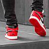 Зимние кроссовки на меху Nike Air Jordan 1 Royal Retro High Winter ( Красные / Белые ), фото 2