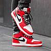 Зимние кроссовки на меху Nike Air Jordan 1 Royal Retro High Winter ( Красные / Белые ), фото 4