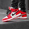 Зимние кроссовки на меху Nike Air Jordan 1 Royal Retro High Winter ( Красные / Белые ), фото 5