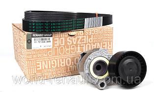 Комплект ремня генератора на Рено Каджар 1.5dci K9K/ Renault ORIGINAL 117203694R