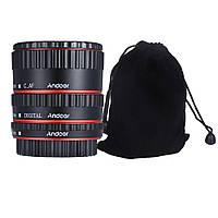 Andoer автофокусный макро удлинитель для Canon EOS EF EF-S TTL автофокусные макрокольца металлический