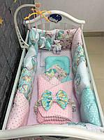 Для новонароджених набори у дитяче ліжечко: Бортики, подушечки, пледи, конверти, одеяла, простинь