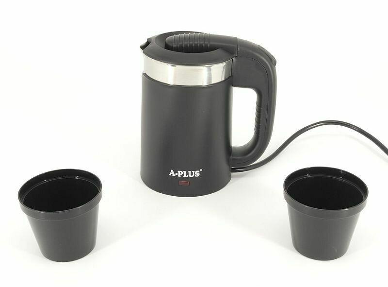 Чайник електричний електрочайник Дорожній A-Plus EK-1519 Чорний 0.5 л