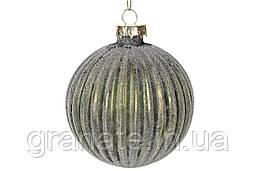 Набор елочных шаров 8см, цвет - золотисто-зеленый, 6шт