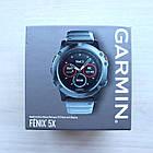 Смарт-годинник Garmin Fenix 5X Slate Gray Sapphire with Metal Band з металічним ремінцем, фото 4