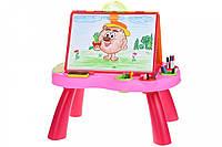 Навчальний стіл Same Toy My Art centre рожевий (8806Ut)