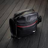 Чоловіча шкіряна сумка через плече Puma RV, фото 5