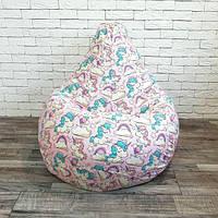 Кресло-мешок хлопок Единорожки