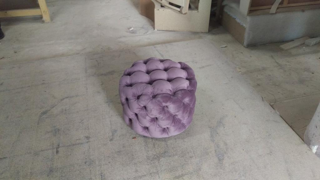 Пуфік капітоне 55см. діаметр