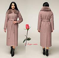 Женское  зимнее пальто из натуральной шерсти, фото 1