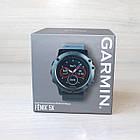 Смарт-годинник Garmin Fenix 5X Slate Gray Sapphire with Black Band з чорним ремінцем, фото 4