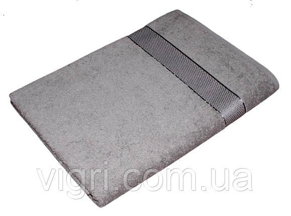 Полотенце махровое Азербайджан, 70х140 см., серое, фото 2