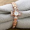 Кольцо Xuping 13894 размер 19 ширина 9 мм куб. цирконий вес 1.9 г позолота РО, фото 5